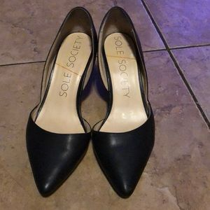 Sole Society black heels size 6.5